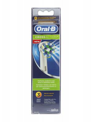 Recambio de cepillo eléctrico oral b crossaction  3 unidades