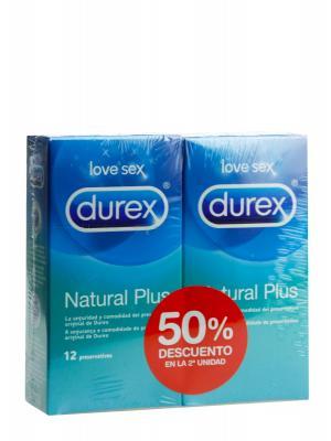 Preservativos natural plus de durex duplo 2x12 unidades
