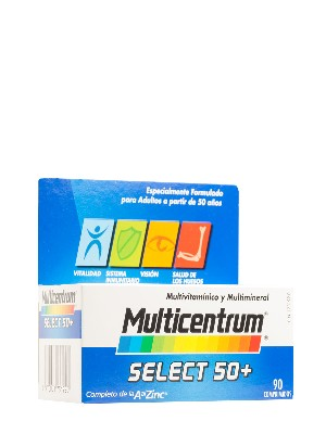 Multicentrum comprimidos select 50+ 90