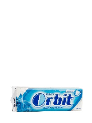 Chicles sabor menta orbit, 10 grageas.