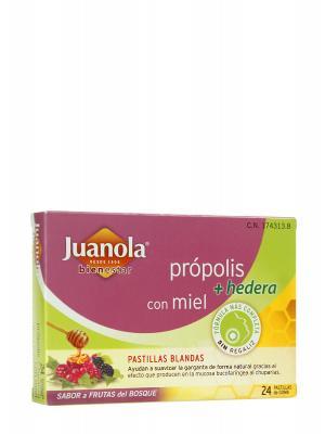 Juanola con própolis y frutas del bosque 24 comprimidos.