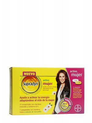 Supradyn vitaminas para mujer 21+7 comprimidos.