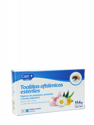 Care+toallitas oftalmologicas esteriles 30 unidades individuales