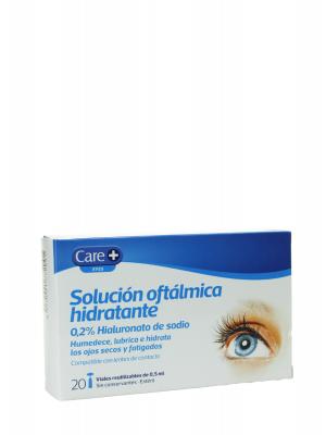 Care+ solución oftalmológica 0.2% hialuronato de sodio 20 viales de 0.5 ml