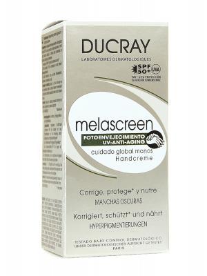 Crema de manos antimanchas y protectora con spf 50+ melascreen de ducray 50ml.