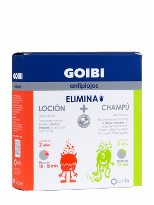 Goibi antipiojos elimina loción + champú.