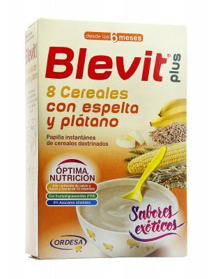 Papilla 8 cereales con  espelta y plátano de blevit plus 300g