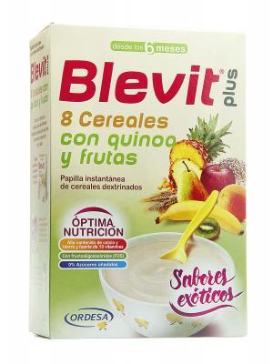 Papilla 8 cereales con quinoa y frutas de blevit plus 300g.