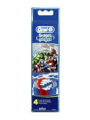 Recambio de cepillo eléctrico oral b infantil los vengadores 4 unidades