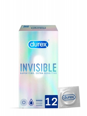 Durex invisible extra sensitivo 12 preservativos