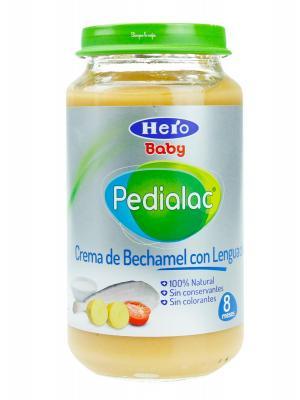 Potito de crema de bechamel con lenguado de pedialac 250g