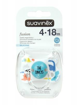 Chupete fusion anatómico de silicona de 4 a 18 meses suavinex