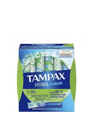 Tampax pearl compak tampones super 16 unidades