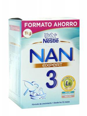 Nestlé nan expert 3 leche de crecimiento 1 kg
