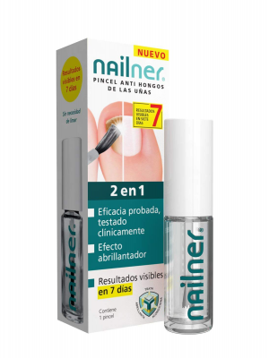 Nailner 2 en 1 pincel antihongos 5 ml