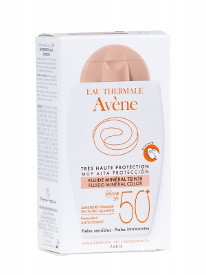 Avène fluido mineral con color spf 50+ 40ml