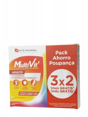 Forte pharma pack 3x2 multivit adultos 84 comprimidos