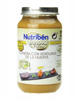 Nutribén innova ternera con verduras de la huerta 250gr