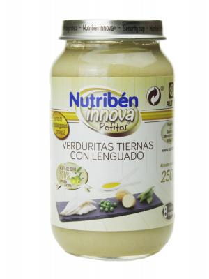 Nutribén innova verduritas tiernas con lenguado 250 gr