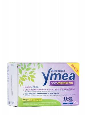 Ymea menopausia sofoconfort 24 h. 32 cápsulas día + 32 cápsulas noche.