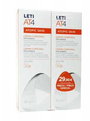 Leti at4 duplo crema corporal 2x200 ml