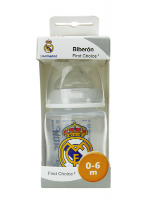 Nuk biberón silicona real madrid 0-6 m 150ml
