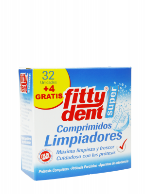 Fittydent limpiador 32 comprimidos