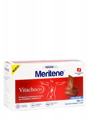 Meritene vitachoco, vitaminas y minerales 30 onzas sabor chocolate con leche