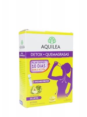 Aquilea detox + quemagrasas sabor piña 10 sticks