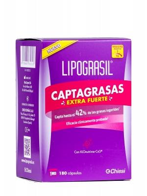 Lipograsil captagrasas extra fuerte 180 cápsulas.