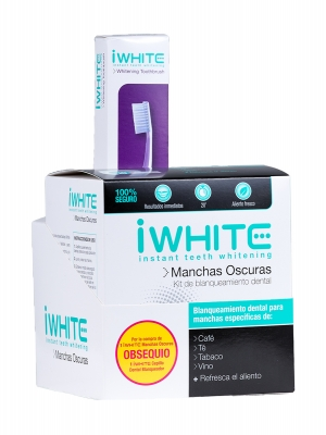 I white kit de blanqueamiento dental manchas oscuras.