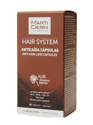 Martiderm ®  hair system cápsulas anticaída 60 cápsulas