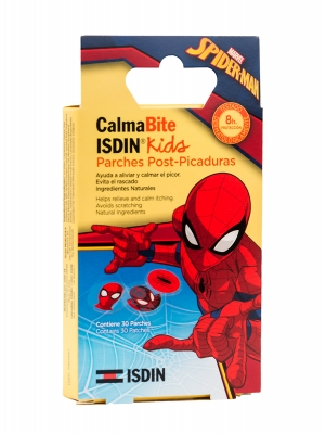 Isdin calmabite parches post picadura de mosquitos spiderman 30 unidades.