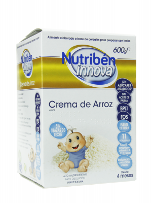 Nutribén innova crema arroz 600 g