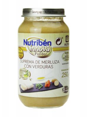 Nutribén innova suprema de merluza con verduras 250 gr