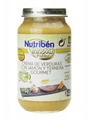 Nutribén innova crema de verduras con jamón y ternera 250 gr