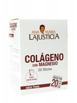 Ana maría la justicia colágeno con magnesio sabor fresa 20 sticks