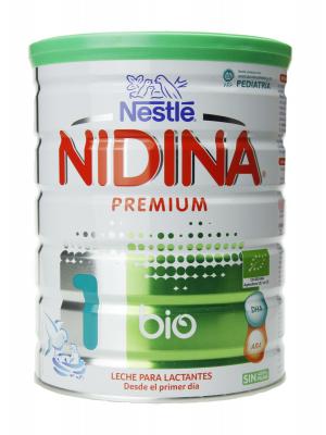 Nidina premium bio 1 leche de inicio 800 gr
