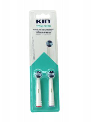 Kin recambio cepillo electrico limpieza total 2 unidades total clean