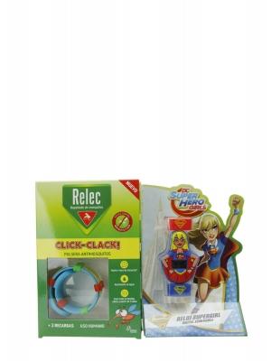 Relec antimosquitos pulsera-reloj sumergible supergirl
