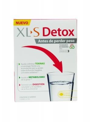 Xl-s detox para antes de perder peso 8 sobres sabor cítrico