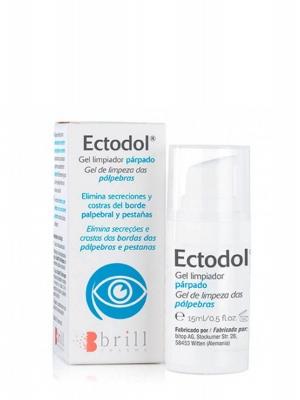 Ectodol gel limpiador párpados 15ml