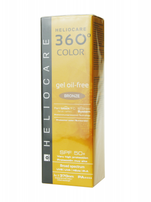 Heliocare 360º gel oil free color bronze spf 50+ 50ml