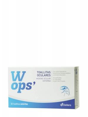 Wops toallitas oculares 30 toallitas estériles
