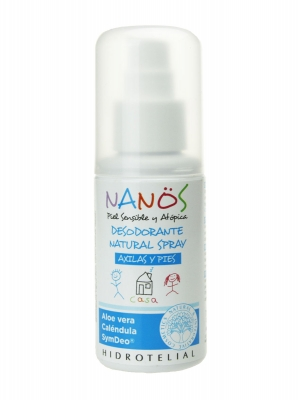 Nanos desodorante natural niños spray axilas y pies 75 ml