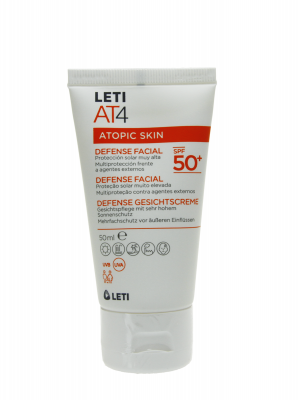 Leti at4 atopic skin defense facial spf 50+ de 50 ml