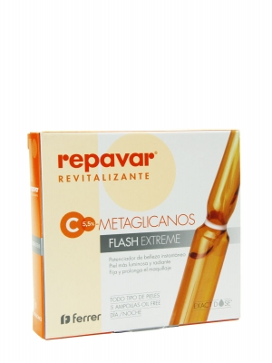 Repavar revitalizante metaglicanos flash extreme 5 ampollas