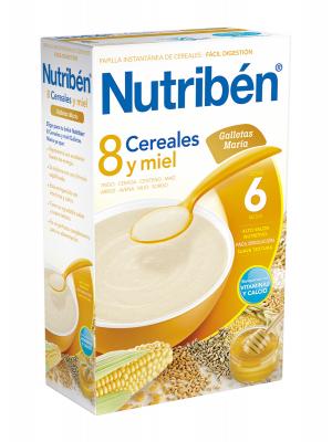 Nutriben 8 cereales y miel galletas maría 600 gr