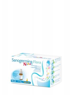Sanogermina flora niños sabor pera 7 monodosis