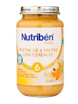 Nutriben postre de 6 frutas con cereales 250 gr